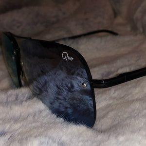 Quay Aviator Blue Mirror Sunglasses